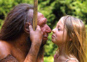 Auf Tuchfühlung mit dem Neandertaler. Foto: Neanderthal Museum