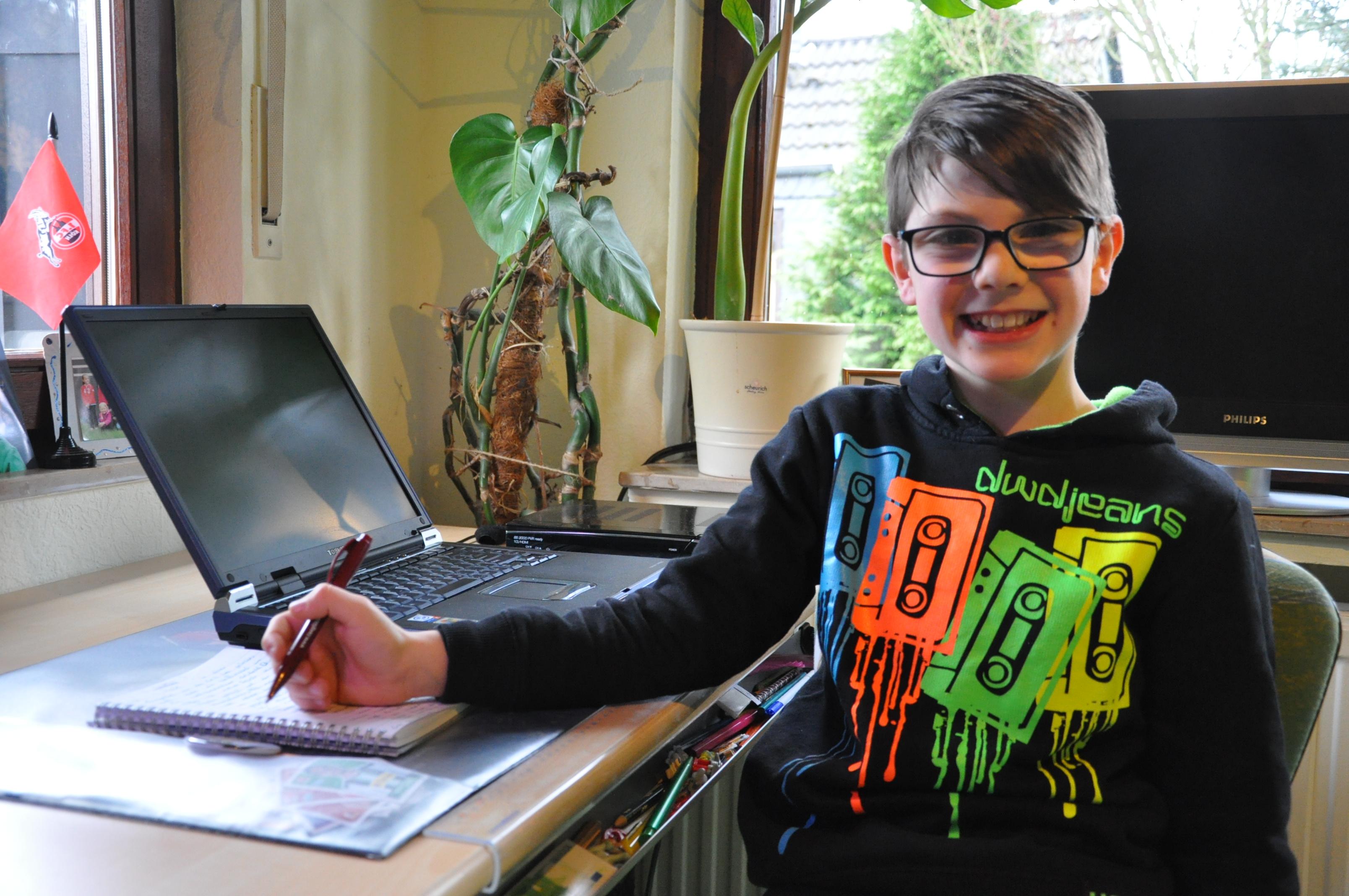 Marwin (10) aus Haan schreibt für Taeglich.ME. Foto: TME
