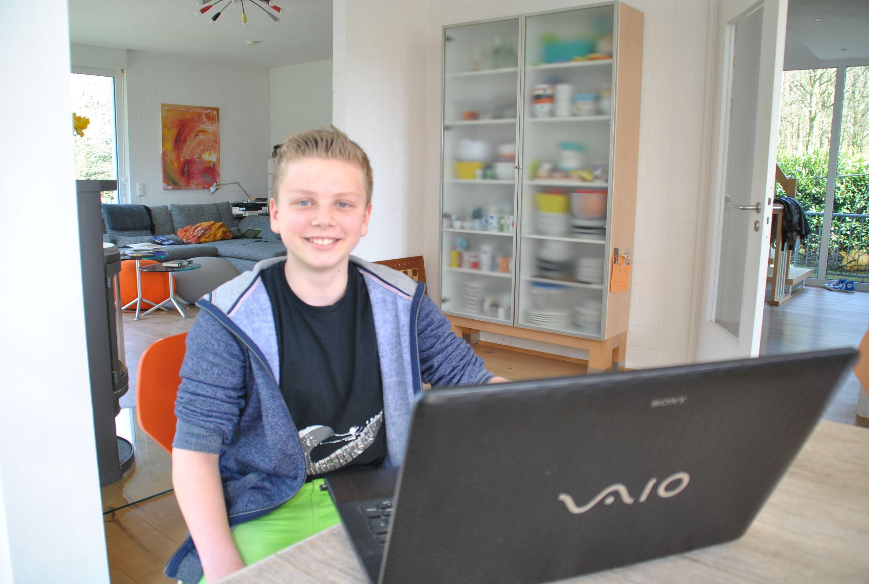 Victor Kuhlen kommt aus Wülfrath und geht in die siebte Klasse des Gymnasiums. Foto: TME