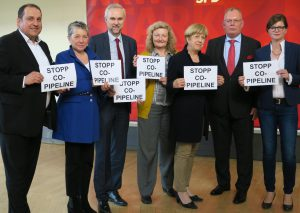 Die Sozialdemokraten wenden sich gegen den Betrieb der CO-Pipeline. Foto: privat