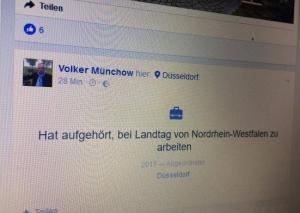 Ein bitterer Post des Facebook-affinen Volker Münchow. Foto: TME