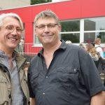 Schulkameraden von einst: Guido Kinzel und Jörg Biesterfeld.