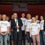 Schulleiter Joachim Busch und das Orga-Team.