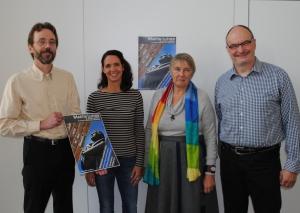 Freuen sich auf die Aufführung des Luther-Oratoriums (v.l.): Markus Diehl, Claudia Köther, Edith Frank und Thomas Danscheidt. Foto: TME