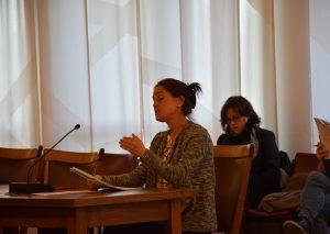 Susanne Büttner, Konrektorin der Sekundarschule, berichtete über die Personaldefizite an der Schule. Foto: TME