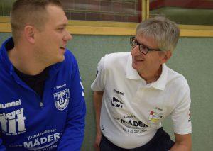Trainer Lars Faßbender und Physio Bernd Beau. Foto: TME