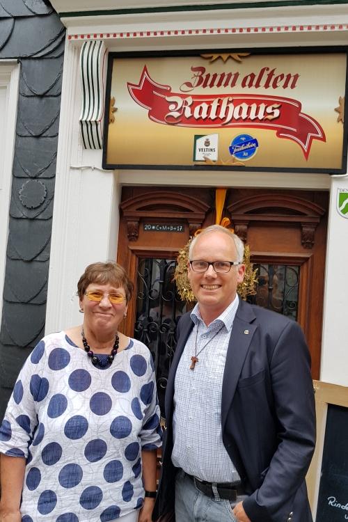 Brigitte Heitmann und Martin Sträßer. Foto: SU