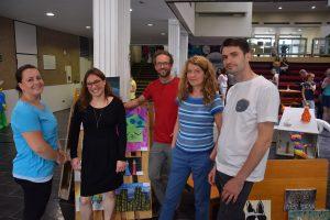 Die Lehrer und Profi-Künstler des Ateliers (v.l.): Angela Köhler, Anke Knevels, Ulli Köppen, Anne Wissmann und Roman Zheleznyak. Foto: TME