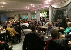Bürgermeister Thomas Dinkelmann und die Fachbereichsleiter Marko Sucic sowie Kurt Werner Geschorec waren zu Gast beim Bürgerverein. Foto: TME