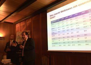 Eberhard Kanski, stellvertretender Vorsitzender des Bundes der Steuerzahler NRW, war gestern zu Gast in Metzkausen. Foto: TME
