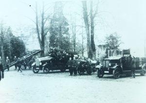 Ein Bild aus längst vergangenen Mettmanner Feuerwehrtagen. Foto: Stadtarchiv
