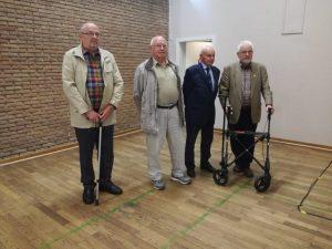 v.l. Walter Brodmann, Erich Köster, Herbert Werner und Karl Padurschel.