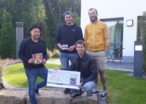 Alex Preuß, Pepe Klyscz, Florian Mayer, Max Preuß (v.l.). die Mitglieder von Pony Hütchen. Foto: privat