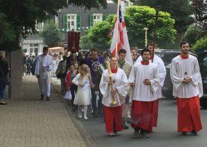 Fronleichnam in Mettmann: Heilige Messe und Prozession. Foto: TME