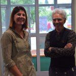 Stellvertretende Schulleiterin Stefanie Reuter konnte auch Erik Schmittmann begrüßen, der das Atelier gegründet hatte.