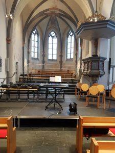 XXL: Die Bühne in der Stadtkirche hat besondere Dimensionen.