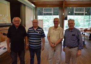 Geehrt (v.l.): Horst Hoenke, Peter Deitermann, Hans Nieske und Horst Proprawa. Foto: TME