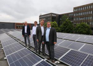 v.l. Bernhard Mecking, Dieter Leii, Bert Gruber, Dennis Schmitter- Foto: Stadtwerke Velbert